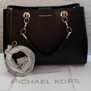 Michael Kors Medium Leather Cynthia Dressy Satchel